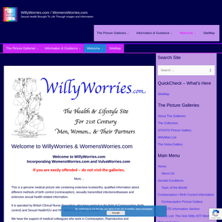 Welcome to WillyWorries & WomensWorries.com - WillyWorries.com
