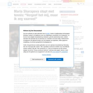 """Maria Sharapova stopt met tennis- """"Vergeef het mij, maar ik ... - Het Nieuwsblad"""