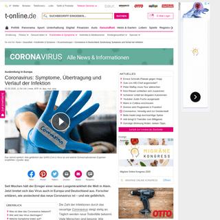 Coronavirus in Deutschland- Ansteckung, Symptome und Verlauf der Infektion