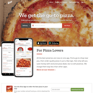 Order Pizza Delivery & Support Local Pizzerias - Slice