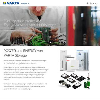 VARTA Storage - Führender Hersteller von Energiespeicherlösungen