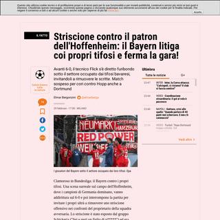 Bundesliga, Bayern-Hoffenheim stop- ecco perché - La Gazzetta dello Sport - Tutto il rosa della vita
