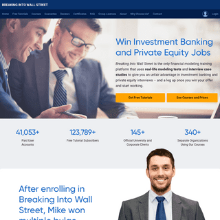 ArchiveBay.com - breakingintowallstreet.com - Financial Modeling Courses & Training - Breaking Into Wall Street