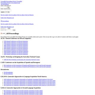 Cascadilla Proceedings Project- All Proceedings