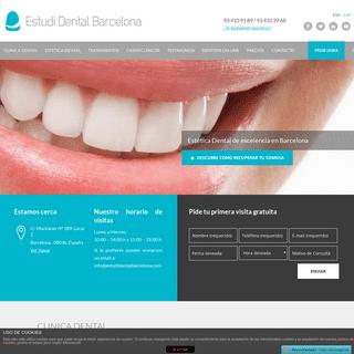 Clínica dental Barcelona ✅ Dentistas - Estudi Dental Barcelona
