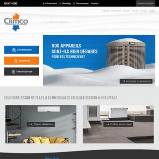 ArchiveBay.com - climco.ca - Climco - Climatisation & Chauffage à Terrebonne, Laval et Montréal