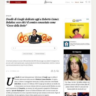 Doodle di Google dedicato oggi a Roberto Gomez Bolaños- ecco chi è il comico conosciuto come -Cecco della Botte- - Il Fatto Qu