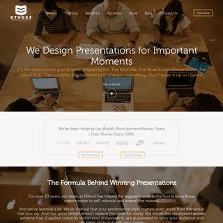 Presentation Designer Agency - Ethos3