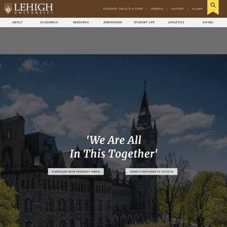 Home - Lehigh University