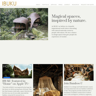 IBUKU - A pioneering architectural and design firm building with bamboo in Bali, led by Elora Hardy