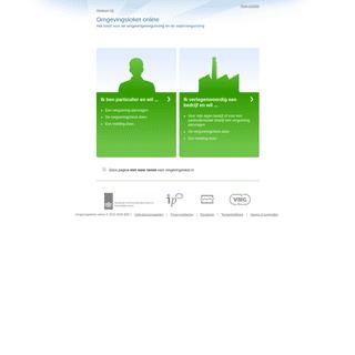 Omgevingsloket online - Startpagina