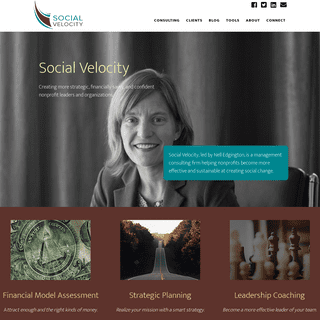 Social Velocity- More Effective & Sustainable Nonprofits