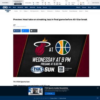 Miami Heat at Utah Jazz game preview