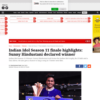 ArchiveBay.com - indianexpress.com/article/entertainment/television/indian-idol-season-11-finale-winner-live-updates-6282884/ - Indian Idol Season 11 Winner Name 2020 announced- Sunny Singh wins Indian Idol Season 11