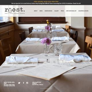 Roost Restaurant, Houston, Texas - Roost Restaurant