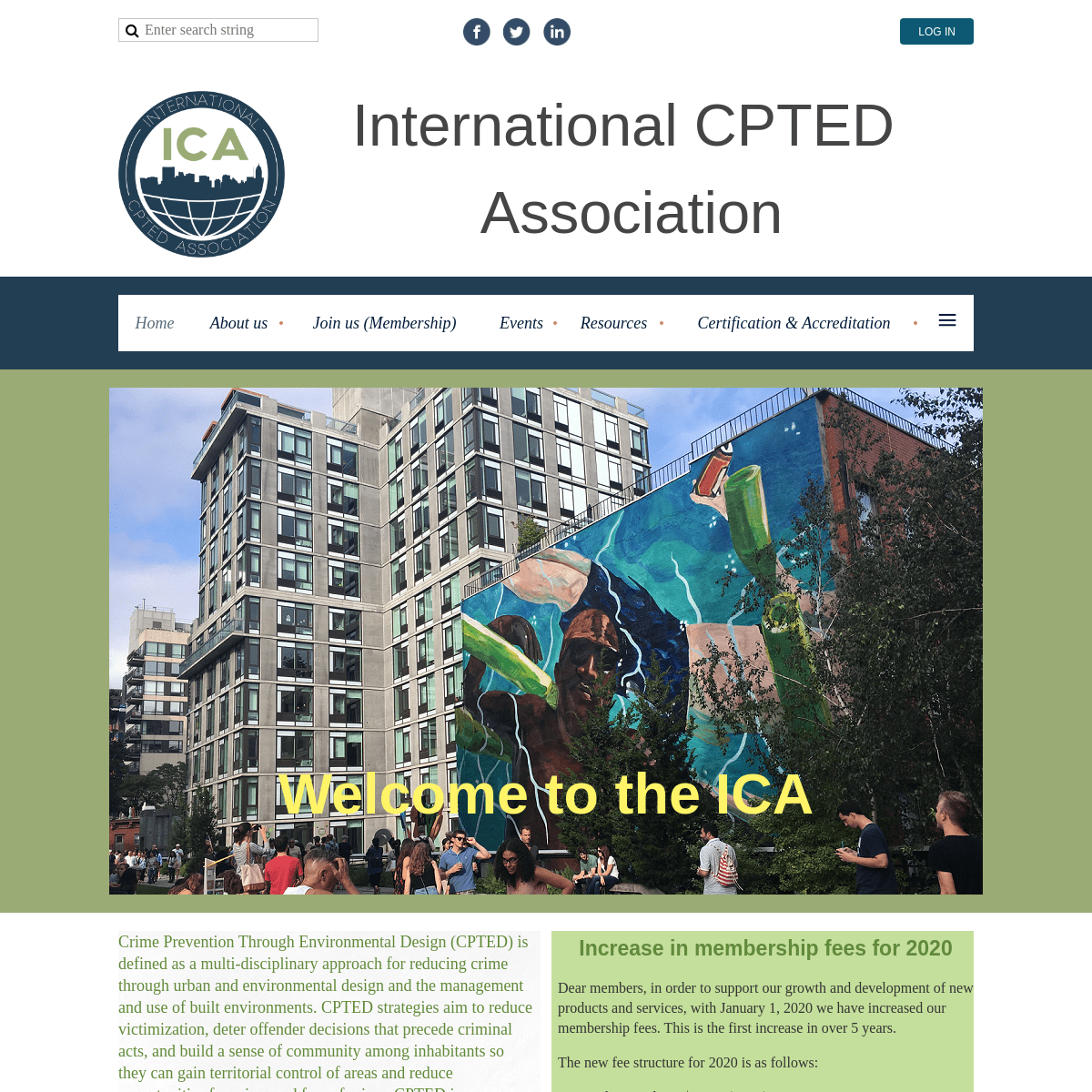 International CPTED Association home page