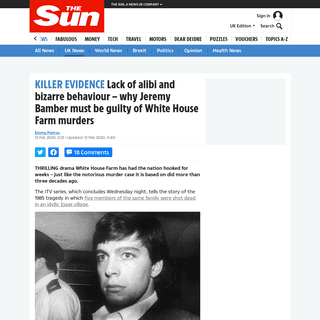 Lack of alibi and bizarre behaviour – why Jeremy Bamber must be guilty of White House Farm murders – The Sun