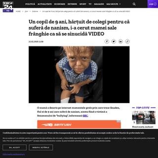 Un copil de 9 ani, hărțuit de colegi pentru că suferă de nanism, i-a cerut mamei sale frânghie ca să se sinucidă VIDEO