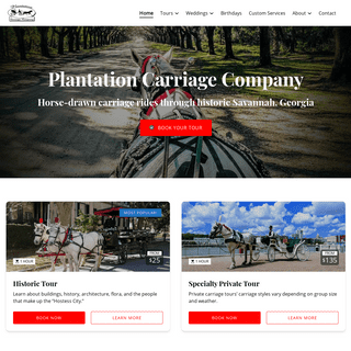 Plantation Carriage Company - Savannah Georgia Horse Drawn Carriage Rides