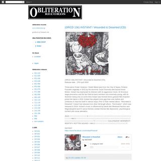 obliteration records