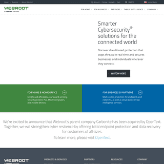 Cybersecurity & Threat Intelligence Services - Webroot