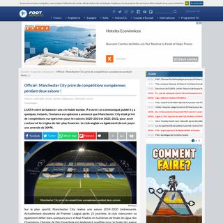 ArchiveBay.com - www.footmercato.net/ligue-des-champions/officiel-manchester-city-prive-de-competitions-europeennes-pendant-deux-saisons_274077 - Officiel- Manchester City privé de compétitions européennes pendant deux saisons!