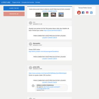 LordTube - A Rede Social para Influenciadores Digitais