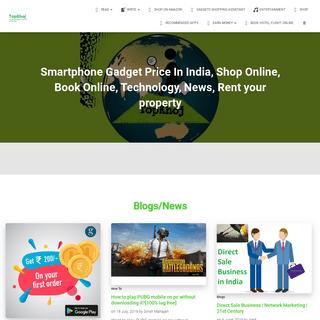 Smartphone Gadget price in India, Shop Online, Book Online - TopKhoj