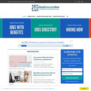 Real Home Jobs Now - Real Work From Home Jobs