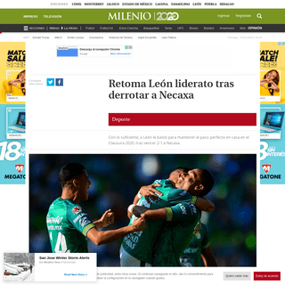 ArchiveBay.com - www.milenio.com/deportes/leon-vs-necaxa-resultados - León vs Necaxa- Resultados