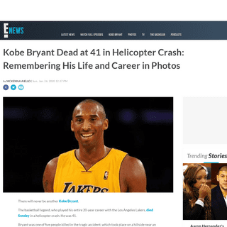 Kobe Bryant Dead at 41- Look Back at His Life in Pictures - E! News
