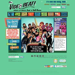 VIDEOBEAT.COM - ROCK & ROLL MOVIES on DVD - 50s & 60s Youth Culture Films and TV.