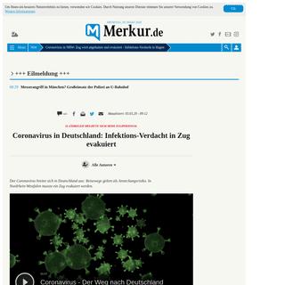 Coronavirus in NRW- Zug wird angehalten und evakuiert - Infektions-Verdacht in Hagen - Welt