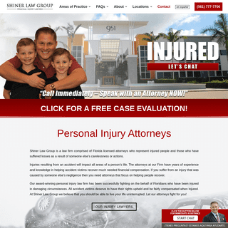 ArchiveBay.com - shinerlawgroup.com - Personal Injury Attorneys - Accident Lawyers - Shiner Law Group, P.A.