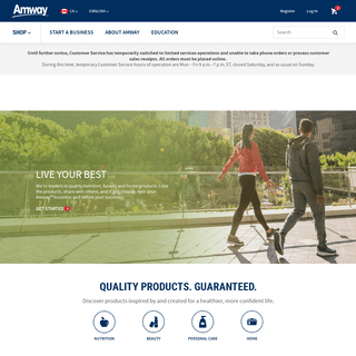 Start Your Own Business - Become an Amway IBO - Amway Canada