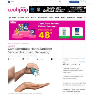Cara Membuat Hand Sanitizer Sendiri di Rumah, Gampang!