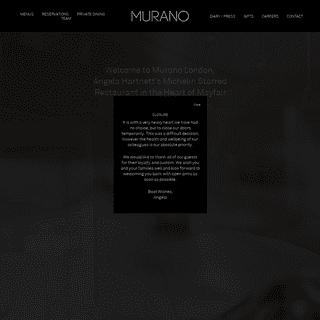 Angela Hartnett's Michelin Starred Restaurant - Murano