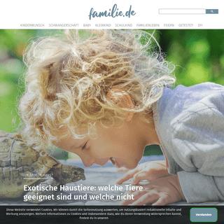 Online-Ratgeber zu Kindererziehung von Baby bis Teenie - familie.de