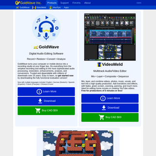 ArchiveBay.com - goldwave.ca - GoldWave - Audio & Video Editing Software and Fun Games