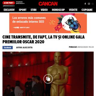 ArchiveBay.com - www.cancan.ro/cine-transmite-de-fapt-la-tv-si-online-gala-premiilor-oscar-2020-20138196 - Cine transmite, de fapt, la TV și online gala Premiilor Oscar 2020 - Cancan.ro