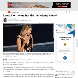 Laura Dern wins her first Academy Award - CNN