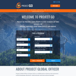Project GO - An Initiative of the Defense Language and National Security Education Office