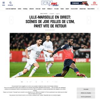 ArchiveBay.com - rmcsport.bfmtv.com/football/ligue-1-lille-marseille-en-direct-4164.html - Lille-Marseille en direct- scènes de joie folles de l'OM, Payet vite de retour