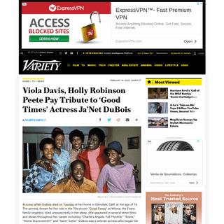 ArchiveBay.com - variety.com/2020/tv/news/anet-dubois-death-social-media-viola-davis-1203506901/ - Hollywood Reacts to Ja'Net DuBois Death on Social Media – Variety