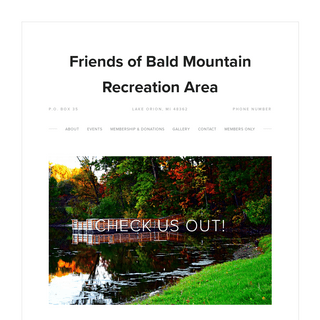 Friends of Bald Mountain Recreation Area