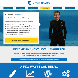 Referralbooster - HowToGetRef - Incognito007 - Tanguy Hubner