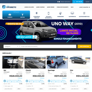 Vip Direto – Compra e venda de veículos e produtos por leilão.