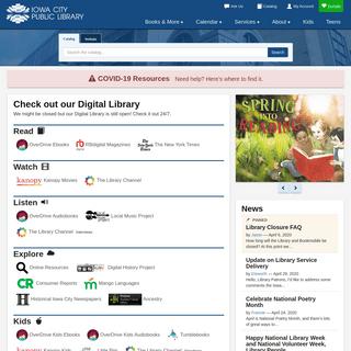 Iowa City Public Library - Virtual Branch