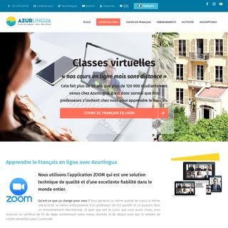 ArchiveBay.com - azurlingua.com - Apprendre le français en ligne - Azurlingua école de français à Nice France