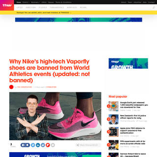 Why Nike's high-tech Vaporfly shoes are banned from World Athletics events (updated- not banned)